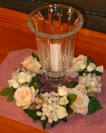 "9"" Hydrangea & Rose Candle Ring"
